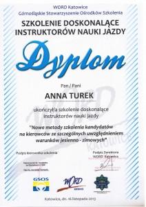 Dyplom Anna Turek